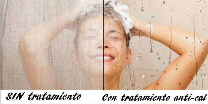 Tratamiento anti-cal  mamparas baño